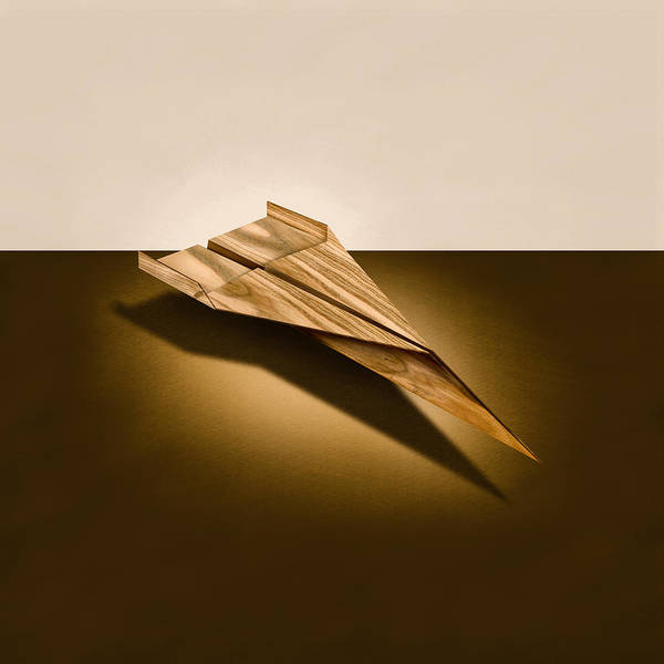 Glider Wall Art - Photograph - Paper Airplanes Of Wood 3 by YoPedro