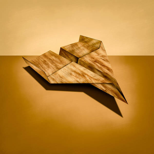 Glider Wall Art - Photograph - Paper Airplanes Of Wood 5 by YoPedro