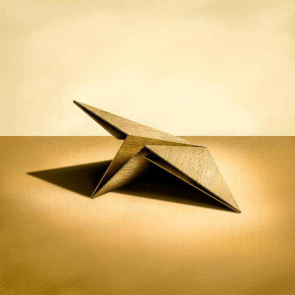 Paper Airplanes Of Wood 7 Art Print