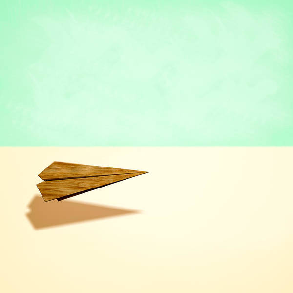 Glider Wall Art - Photograph - Paper Airplanes Of Wood 9 by YoPedro