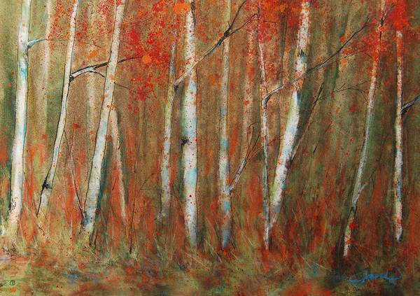 Painting - Paper Birch by Jani Freimann