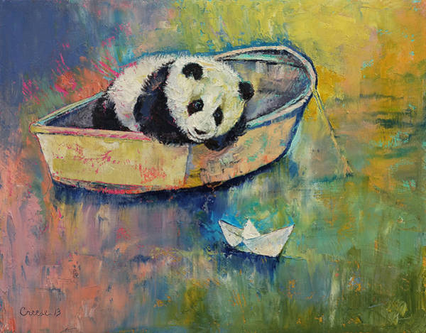 Sad Painting - Paper Boat by Michael Creese