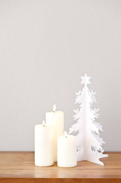 Photograph - Paper Christmas Tree And Candles by U Schade