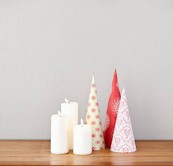 Photograph - Paper Cones And Candles by U Schade