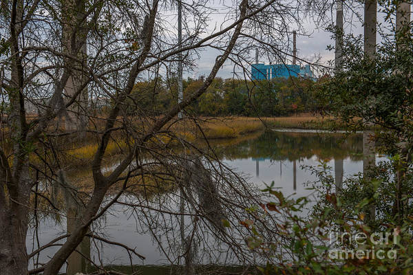 Photograph - Paper Mill Through The Tree's by Dale Powell