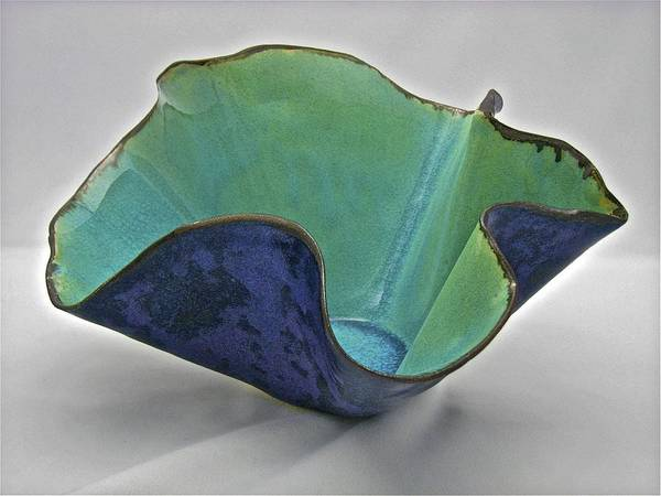 Sculpture - Paper-thin Bowl  09-006 by Mario MJ Perron