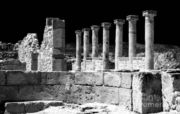 Photograph - Paphos Columns by John Rizzuto