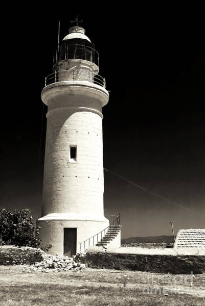 Photograph - Paphos Lighthouse by John Rizzuto