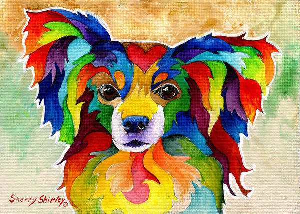 Painting - Papillon by Sherry Shipley