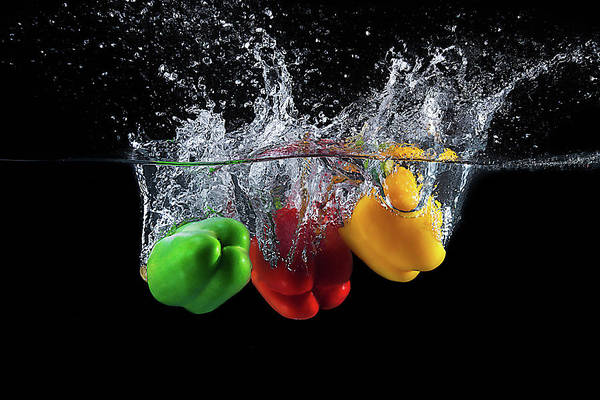 Splash Photograph - Paprika Splash by Mogyorosi Stefan