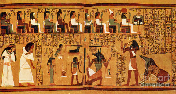 Hieroglyph Photograph - Papyrus Of Ani, Weighing Of The Heart by Science Source