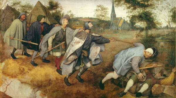 Damaged Photograph - Parable Of The Blind, 1568 Tempera On Canvas by Pieter the Elder Bruegel