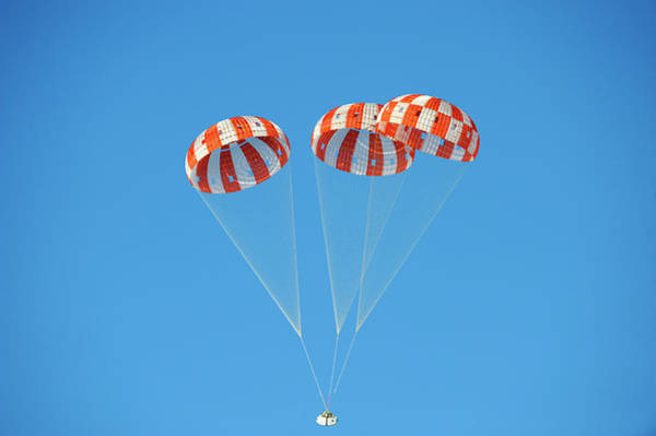 Module Wall Art - Photograph - Parachute Test For Orion Spacecraft by Nasa