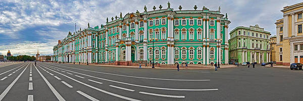 Hermitage Photograph - Parade Ground In Front Of A Museum by Panoramic Images