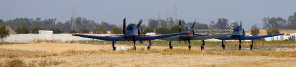 Photograph - Parade Of Cj-6's Taxi For Take-off In The California Heat by John King