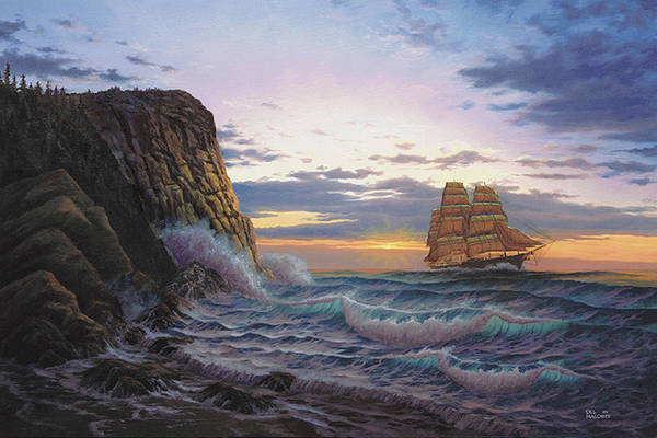 Painting - Paradise Cove And The Lightning  by Del Malonee
