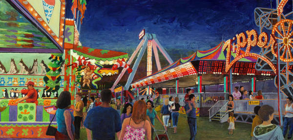 County Fair Painting - Paradise Discovered by Don Perino
