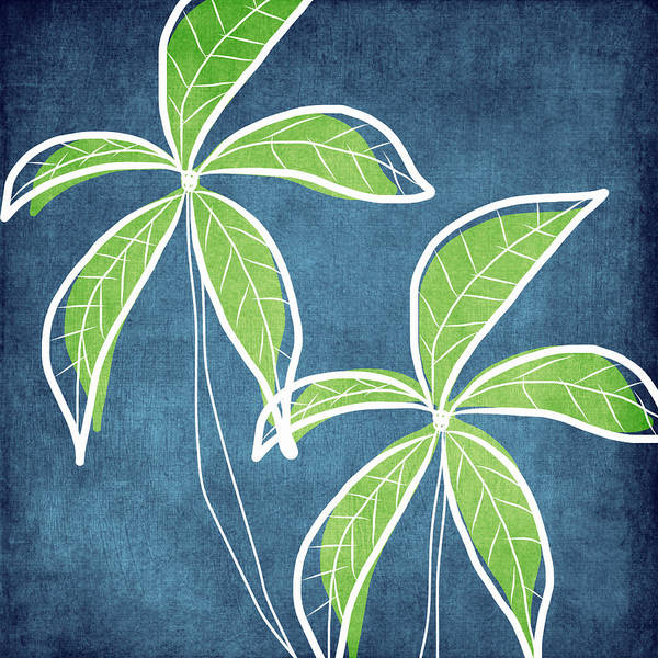 Leafs Wall Art - Painting - Paradise Palm Trees by Linda Woods