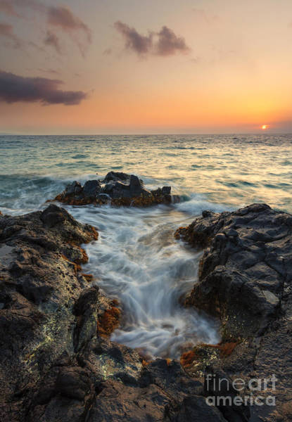 Maui Sunset Photograph - Paradise Split by Mike Dawson