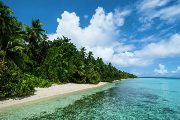 Micronesia Photograph - Paradise White Sand Beach In Turquoise by Michael Runkel
