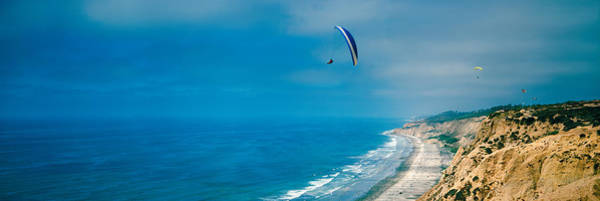 Wall Art - Photograph - Paragliders Over The Coast, La Jolla by Panoramic Images