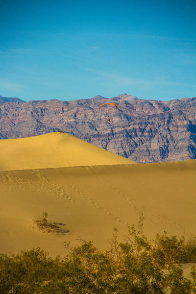 Death Valley Np Photograph - Paragliding Over The Dunes by Kunal Mehra