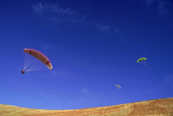 Wald Wall Art - Photograph - Paragliding, Salt Lake City, Utah, Usa by Beth Wald