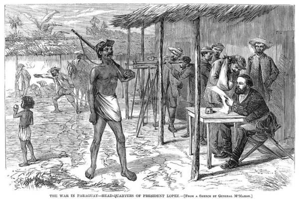 Wall Art - Painting - Paraguayan War, 1870 by Granger