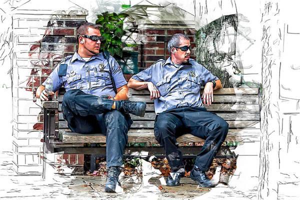 Drum Circle Wall Art - Photograph - Paramedics Keeping Watch by John Haldane