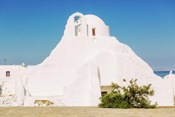 Ancient Greek Photograph - Paraportiani  Ancient Church In Mykonos by Deimagine