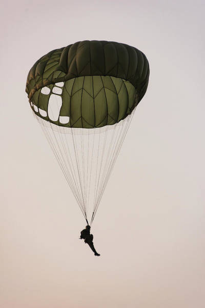 Paratrooper Military Parachutists Art Print