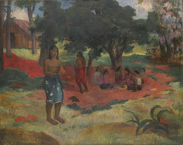 Painting - Parau Parau , 1892 by Paul Gauguin