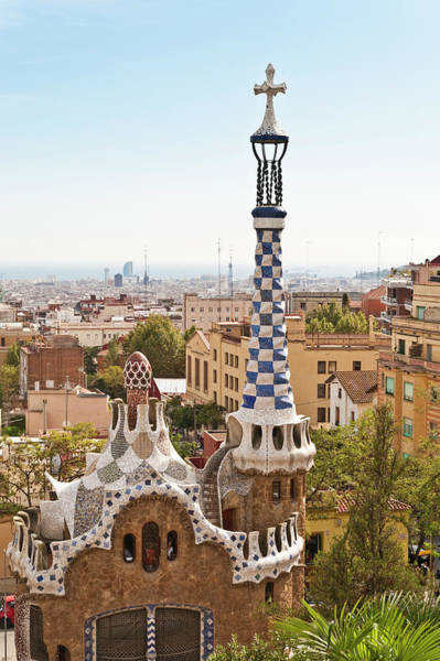 Church Photograph - Parc Guell By Antoni Gaudi, Barcelona by John Harper