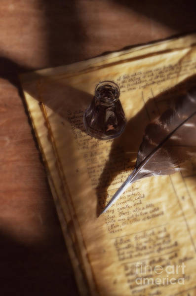 Wall Art - Photograph - Parchment With Ink And Quill Pen by Jill Battaglia