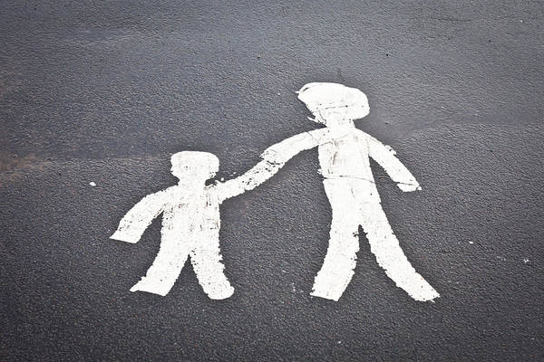 Mother Road Wall Art - Photograph - Parent And Child Marking by Tom Gowanlock