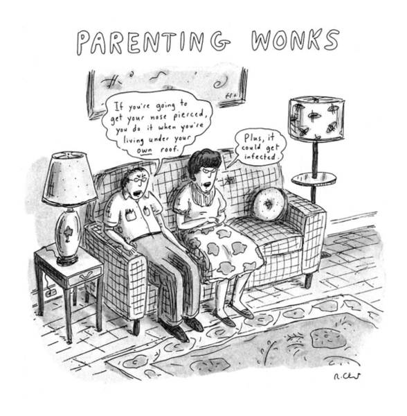 Father Drawing - Parenting Wonks by Roz Chast