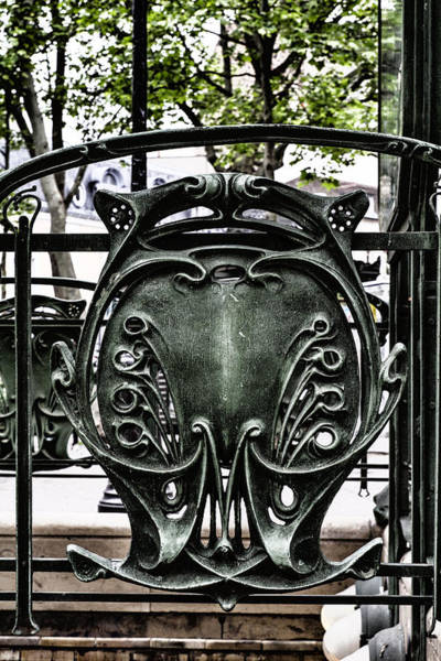 Photograph - Paris Art Nouveau Detail by Georgia Fowler