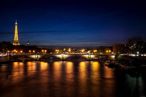 Photograph - Paris At Dusk by Ryan Wyckoff