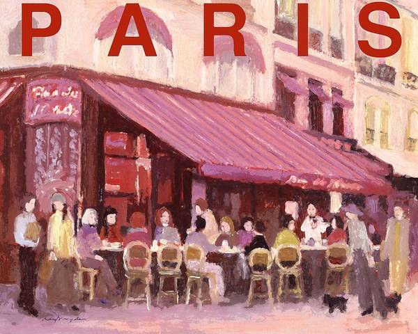 Painting - Paris Cafe Bar by J Reifsnyder