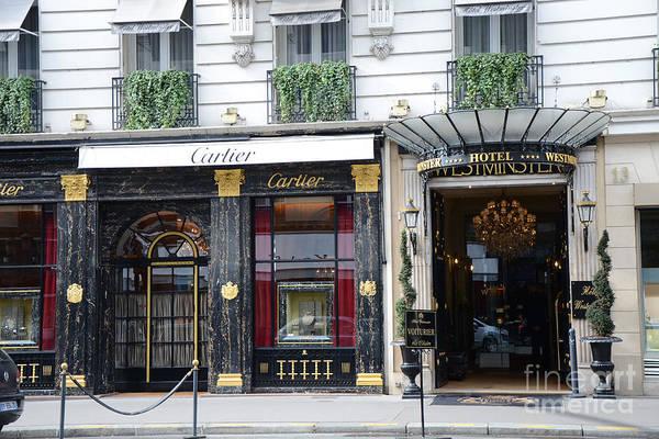 Shopping Districts Wall Art - Photograph - Paris Cartier - Paris Elegant Opulence Hotel Westminster - Paris Cartier Boutique-cartier Wall Decor by Kathy Fornal