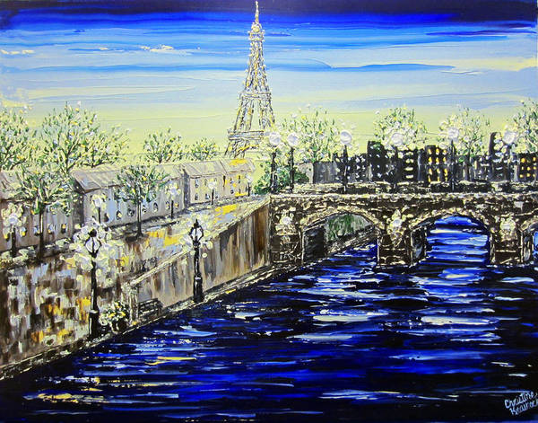 Wall Art - Painting - Glorious Paris by Christine Bell