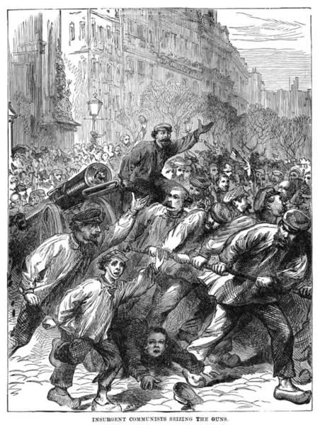Wall Art - Painting - Paris Communists, 1871 by Granger