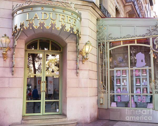 Wall Art - Photograph - Paris Laduree Patisserie Bakery Macaron Tea Shop - Paris Laduree Macaron Patisserie Door Entrance  by Kathy Fornal