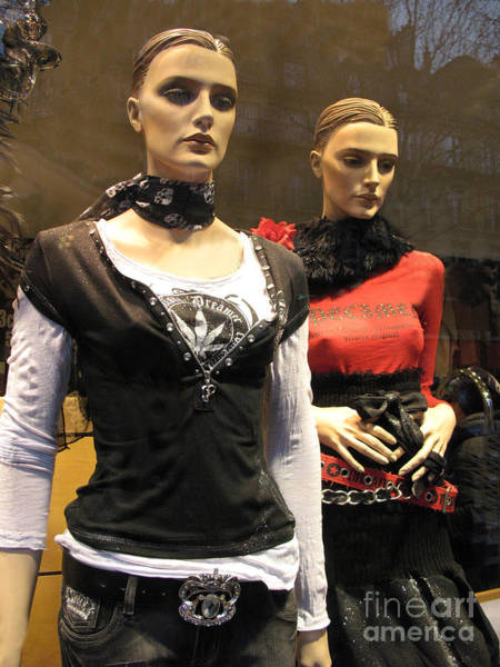 Shopping Districts Wall Art - Photograph - Paris Female Fashion Mannequin Window Art by Kathy Fornal