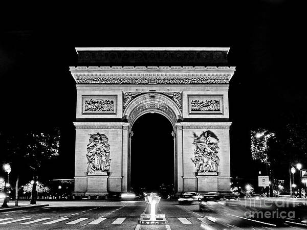 Photograph - Paris - France - Arc De Triomphe by Carlos Alkmin
