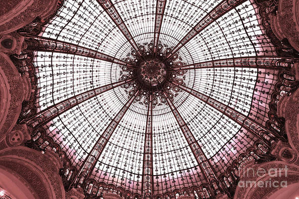 Paris Galeries Lafayette Stained Glass Ceiling Dome - Paris Art Nouveau Abstract Dome Architecture Art Print