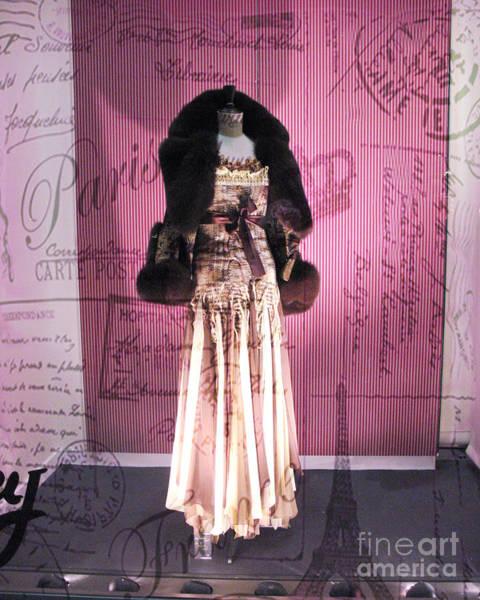 Dress Shop Photograph - Paris Haute Couture Dress High Fashion - Window Shopping In Paris  by Kathy Fornal