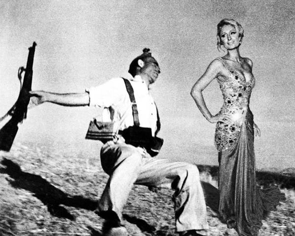 Photograph - Paris Hilton With The Falling Soldier by Tony Rubino
