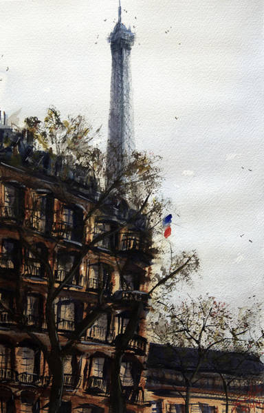 Wall Art - Painting - Paris II by James Nyika