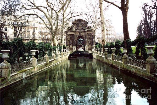 Jardin Wall Art - Photograph - Paris Jardin Du Luxembourg Gardens - Medici Fountain Sculpture Monuments Park  by Kathy Fornal